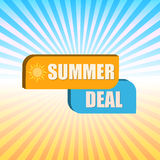 Summer deal over rays Stock Photo