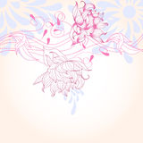Summer decorative background. Universal template for greeting card, web page, background Stock Images