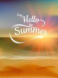 Summer Defocused Sunset Background. EPS 10 Royalty Free Stock Image