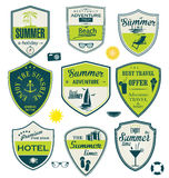 Summer design badges Stock Photography