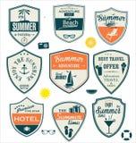 Summer design badges Royalty Free Stock Photo
