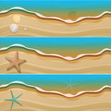 Summer design beach banner set. For your text Stock Images