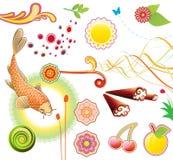 Summer design elements Stock Image