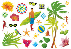 Summer design elements Royalty Free Stock Image
