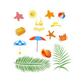 Summer design elements Stock Image