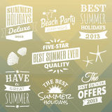 Summer Design Elements Collection Stock Photos