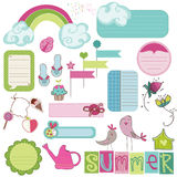Summer Design Elements for scrapbook Royalty Free Stock Photo