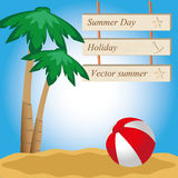 Summer design Royalty Free Stock Photos