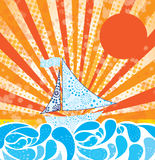 Summer design. Summer  design over sunny background vector illustration Stock Photography