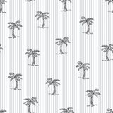 Summer design pattern lined Coconut trees. Seamless Summer design pattern lined Coconut trees on stripes stock illustration
