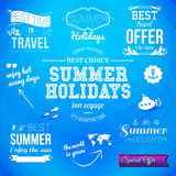 Summer design. Set of typographic labels for summer holidays. Ve Royalty Free Stock Photo