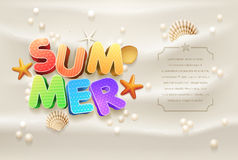 Summer Design template Stock Image