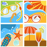 Summer design vector Royalty Free Stock Photography