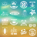 Summer Designs on Tropical Beach Background Royalty Free Stock Photography