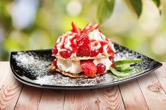 Summer dessert with berries Stock Photo