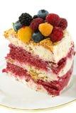 Summer dessert with berries. Stock Photo