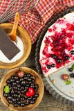 Summer Dessert with Currant and Cheesecake Cream. Healthy pleasure. Summer Dessert with Currant and Cheesecake Cream. Healthy pleasure Royalty Free Stock Photography