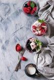 Summer dessert Eton Mess Stock Photo