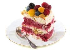 Summer dessert Semifreddo. Stock Photos
