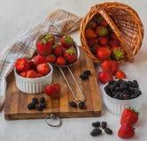 Summer dessert of strawberries Stock Photo