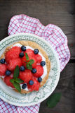 Summer dessert, top view Royalty Free Stock Images