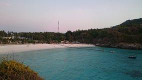 Summer destination. White sand beach and crystal sea water at Raya Island,Phuket Thailand Royalty Free Stock Photo