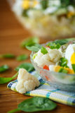 Summer diet salad with cauliflower Stock Images