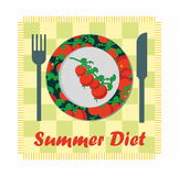 Summer diet Royalty Free Stock Image