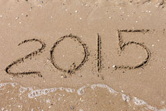 Summer 2015, digits on the beach Royalty Free Stock Photos