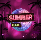 Summer disco background. Disco poster Royalty Free Stock Image