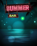 Summer disco background. Disco poster Stock Images