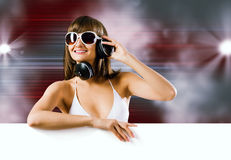 Summer disco party Royalty Free Stock Images