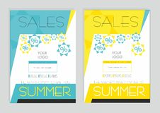 Summer discounts on branded products. stock photo