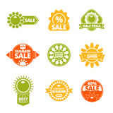 Summer discounts labels set Royalty Free Stock Image