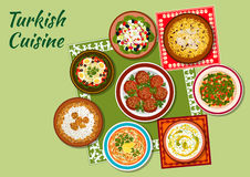 Summer dishes of turkish cuisine icon Stock Photo