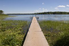 Summer Dock. A summer dock in a lake stock photo