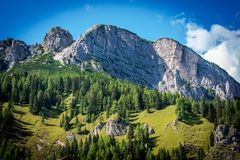 Summer in Dolomites Scenery Stock Image