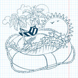 Summer doodle Royalty Free Stock Photo