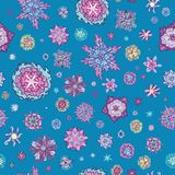 Summer Doodle Floral Pattern Royalty Free Stock Images