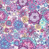 Summer Doodle Floral Pattern Stock Photography