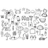 Summer doodle hand drawing vector symbol Stock Photo