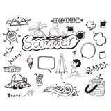 Summer doodle hand drawing vector symbol on white background Stock Image