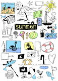 Summer doodle set Royalty Free Stock Photo
