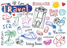 Summer doodle set Stock Photo