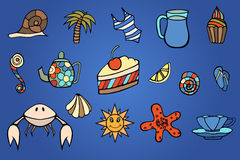 Summer doodles Stock Photography