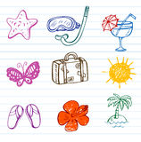 Summer doodles Stock Photo