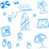 Summer of doodles for kids Royalty Free Stock Photos