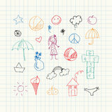 Summer doodles. Seamless pattern Royalty Free Stock Image