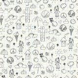 Summer doodles. Seamless pattern Stock Image