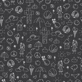 Summer doodles. Seamless pattern Royalty Free Stock Photography